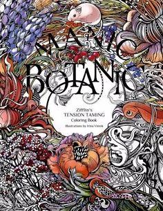Manic Botanic Zifflins Coloring Book By Zifflin Irina Vinnik New Paperback Activity Books
