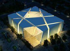 Expo Pavilions – France, Germany, Italy (Zone C) « Events Architecture Model Making, Pavilion Architecture, Landscape Architecture Design, Concept Architecture, Amazing Architecture, Modern Architecture, Facade Design, Exterior Design, Warehouse Design