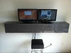 Workstation Wallmount. Set it at the right height and this can be used to make a DIY standing desk.