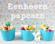 Eenhoorn popcorn www.annekoendigitaal.nl #blogfeestje
