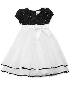 Rare Editions Little Girls' Sequin & Tulle Dress