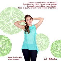 Azul cielo. #Lineas #outfit #moda #tendencias #2014 #ropa #prendas #estilo #primavera #outfit #blusa #azul