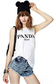 Alex & Chloe Panda Bear Tank