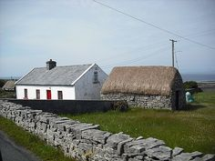 Aran Islands, Ireland - I was there, but would love to see more.  (Note - this is the home I painted a watercolor of).
