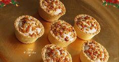 Mini tartaletas saladas de pollo al vino dulce con almendras – Mini tartlets with creamy chicken