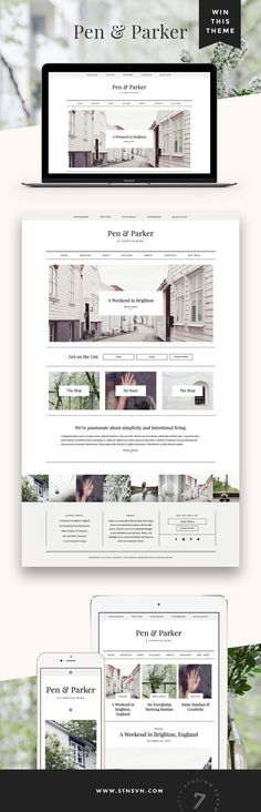 GIVEAWAY! If you've been thinking about sprucing up your blog or web design, there's no time like the present. Simply follow us /stnsvn/ and repin this pin for a chance to win a free download of our new Parker WordPress theme! Giveaway ends 8/15/2016 :)