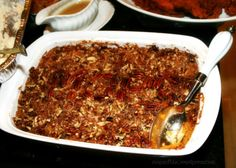 Sweet Potato Casserole with Pecans from a MOPS Thanksgiving Potluck