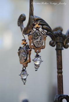 love these earrings by Christine Wallace. Beautiful bridal earrings. https://www.etsy.com/shop/SacredbyBrandy