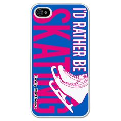 Personalized Figure Skating iPhone Case I'd Rather Be Figure Skating !:)