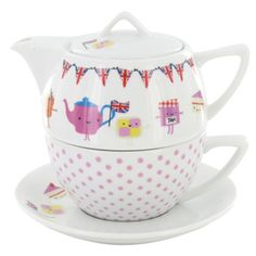 tea for one set. i would absolutely start drinking tea for this bad boy.