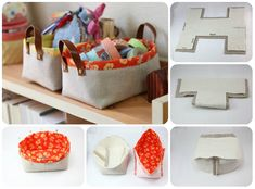 Ordine in casa � Tutorial box in stoffa