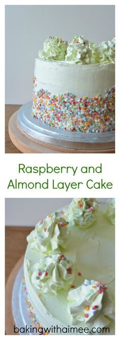 Raspberry and Almond Layer Cake | Baking With Aimee