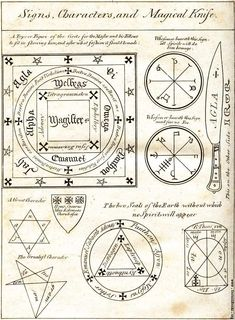 sorcery and magic symbols | Magical Circle, Seals and Characters [image 368x500 pixels]