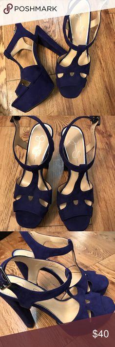Jessica Simpson navy blue heels Cute ! Jessica Simpson navy blue heels never worn Jessica Simpson Shoes Heels