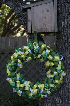 #Baylor spirited ribbon wreath!