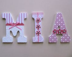 Personalized name letters for nursery, kid's or teen's room