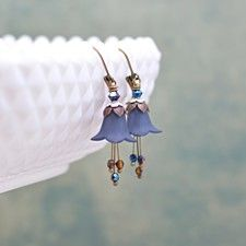 Buy Naked Swarovski Drill Sterling Silver Drop Earrings by Benedicts on OpenSky