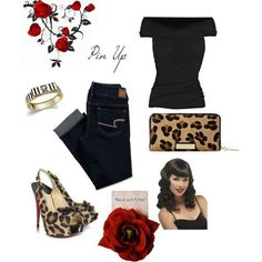Pin up outfit. Love that I have clothes and accessories to wear the pin up up look.