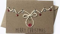 weihnachtskarten selber basteln coole weihnachtsbasteleien You are in the right place about gifts de Christmas Card Crafts, Homemade Christmas Cards, Christmas Wrapping, Christmas Projects, Homemade Cards, Holiday Crafts, Reindeer Christmas, Simple Christmas Cards, Handmade Christmas Crafts