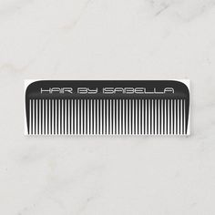 Hair stylist comb modern black hair salon branding mini business card Minimalist Business Cards, Elegant Business Cards, Professional Business Cards, Barber Business Cards, Hairstylist Business Cards, Black Hair Salons, Graphic Design Portfolio Examples, Business Hairstyles, Branding