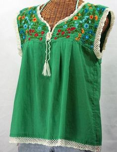 b4aa10511fd01b Buy Hand embroidered vintage Mexican-style peasant blouses