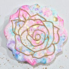 Watercolor Flower Cookie