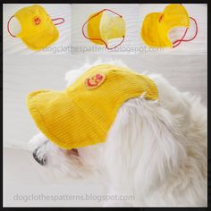 Free Dog Clothes Patterns: Dog cap pattern - maybe another to fit a toy giraffe? Dog Clothes Patterns, Sewing Patterns, Hat Patterns, Costume Patterns, Sewing Ideas, Dog Pattern, Free Pattern, Vest Pattern, Pattern Fabric