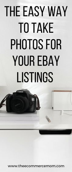 Want to sell on ebay but not confident enough to take photos for your ebay listings? Here's my quick and easy method!