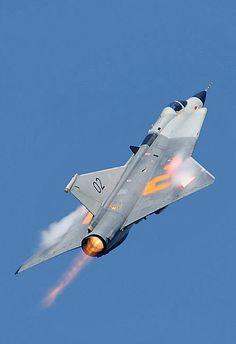 Saab Draken Afterburner New Aircraft, Fighter Aircraft, Fighter Jets, Military Jets, Military Aircraft, Saab 35 Draken, Swedish Air Force, War Jet, Airplane Fighter