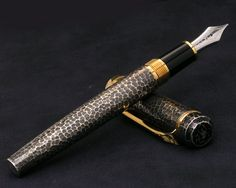Platinum Hammered Antique Sterling Silver Fountain Pen Collection Award Winner. Love anything with a hammered finish. So arts and crafts. Again the texture of this must be amazing.