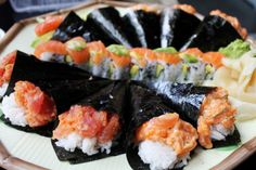 spicy tuna hand rolls :P