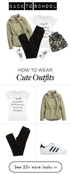 """""""#65 Back To School Outfit (10)"""" by konstantina00085 on Polyvore featuring H&M, American Eagle Outfitters, adidas and Wet Seal"""