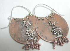 Bead Show: Bead Show Workshops & Classes: Friday June 7, 2013: B130066 Copper Tribal Earrings