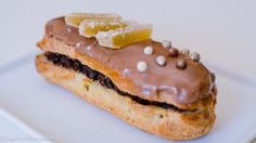 Dark Chocolate and Ginger eclair