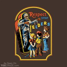 Respect Your Elders funny retro illustration reimagined Bizarre Kunst, Bizarre Art, Arte Horror, Horror Art, Scary Art, Creepy, Collections D'objets, Respect Your Elders, Retro Illustration