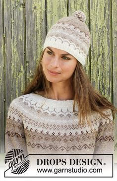 Talvik / DROPS - Free knitting patterns by DROPS Design Free knitting instructionsRainbow Waffles / DROPS - Knitted rags with a textured pattern. The piece is worked in DROPS Paris. Fair Isle Knitting Patterns, Fair Isle Pattern, Knitting Designs, Knit Patterns, Drops Design, Knit Crochet, Crochet Hats, Icelandic Sweaters, Moss Stitch