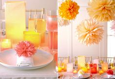 pompones de papel para decoracion bodas guipuzcoa