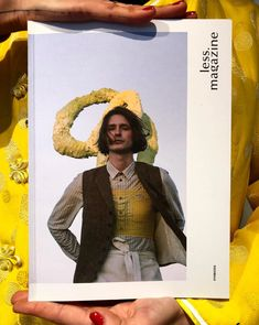 Voft yellow b5 on the cover of Less magazine aw17-18