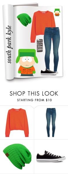 """south park kyle"" by blackfashion123 ❤ liked on Polyvore featuring T By Alexander Wang, J Brand, Converse and JFR"