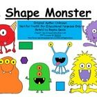FREEBIE:  Shape Monster, Shape Monster, Munch, Munch, Munch......I love teaching shapes at the beginning of the school year with the Shape Monster.  A good f...