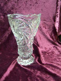 Vintage crystal vase by recupefashionnstuff on Etsy, $30.00