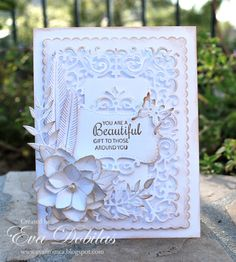 For the love of life: Cheery Lynn Designs: White on White card