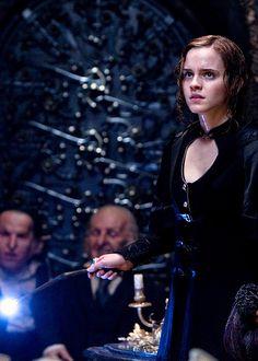 Hermione as Bellatrix at Gringotts.