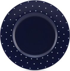 kate spade new york Larabee Dot Navy Collection Stoneware Dinner Plate