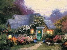 Weathervane Hutch ~ Thomas Kinkade  1992