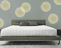 Cool chrysanthemum stencil-love this stencil