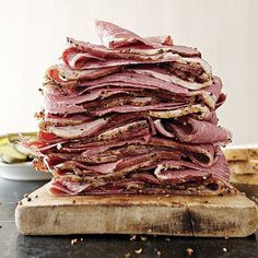 Homemade Pastrami Recipe FineCooking is part of Pastrami recipe Making pastrami at home takes time—a little over a week, in fact—but very little effort The long brine and slow smoking infuse - How To Make Pastrami, Making Pastrami, Pastrami Sandwich, Sandwiches, Charcuterie, Homemade Pastrami, Meat Recipes, Cooking Recipes, Beef Dishes