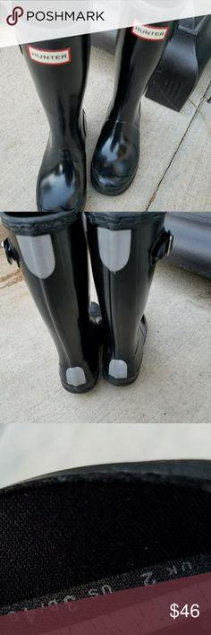 Rainboots Glossy black kids Hunter Boots Shoes Winter & Rain Boots