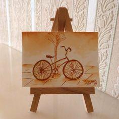 Bicycle Bike Sepia Sketch Card ACEO £3.00