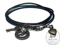 Armband echt Leder - vintage Zeit Claire, Etsy, Bracelets, Vintage, Jewelry, Handmade, Wristlets, Schmuck, Leather